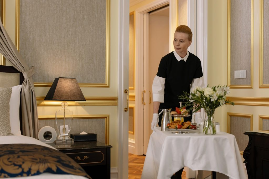 photo of hotel room service